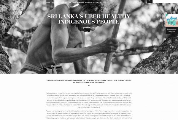 LightFoot Travel Jose Jeuland Sri Lanka Vedda documentary photographer singapore asia