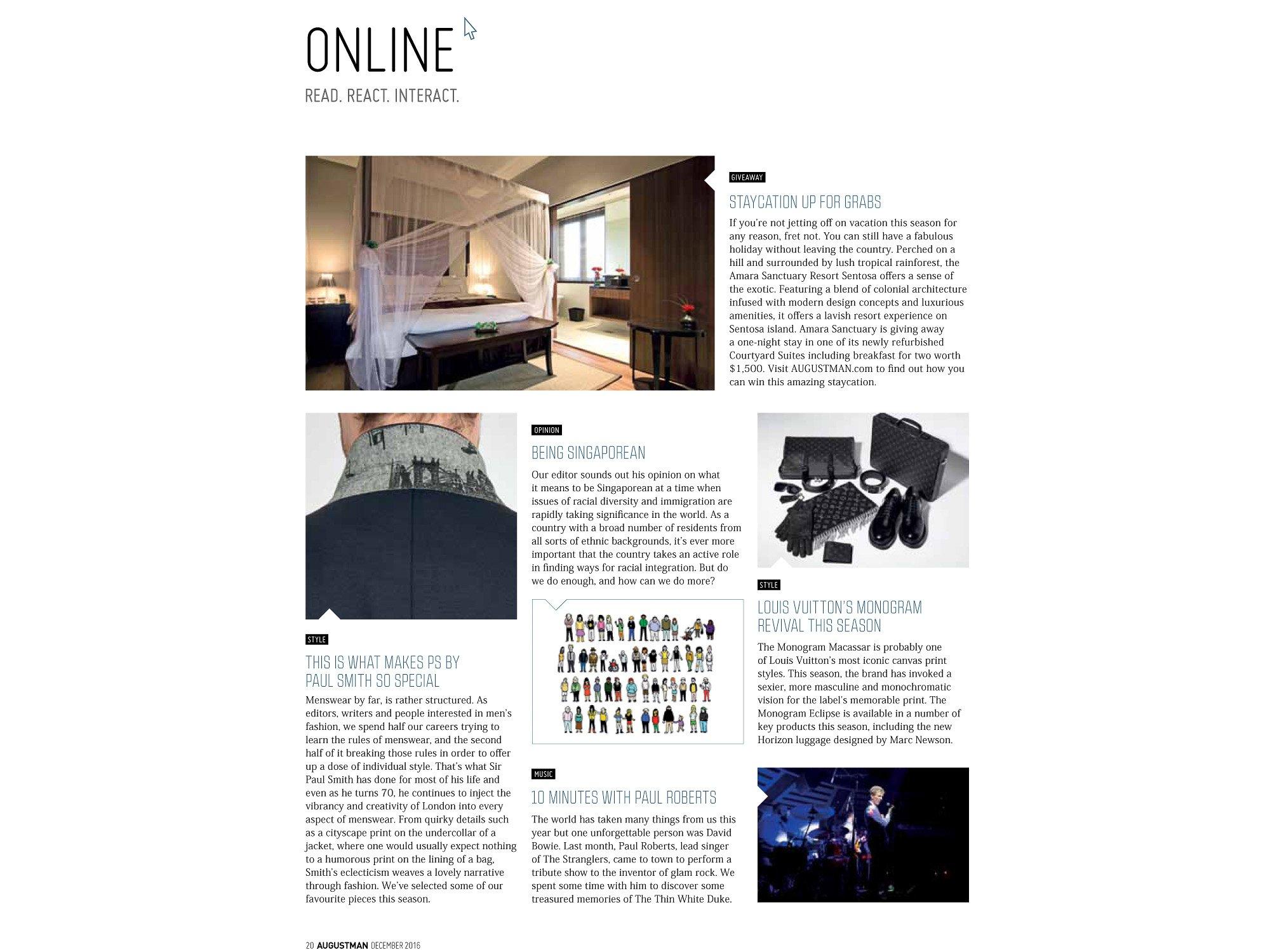 AUGUSTMAN magazine singapore jose jeuland paul roberts concert