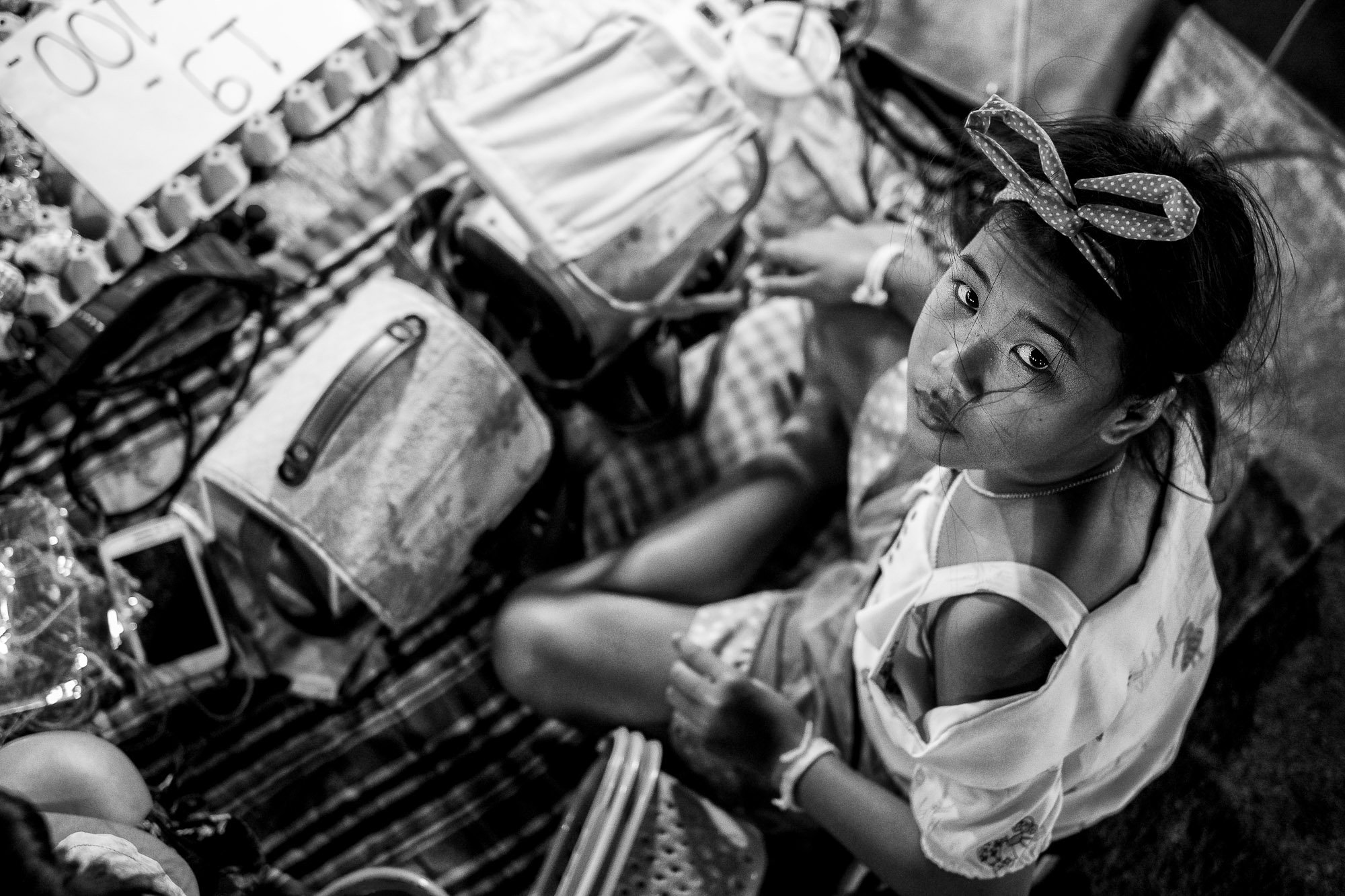 CHIANG MAI thailand asia street photography portrait kid girl market
