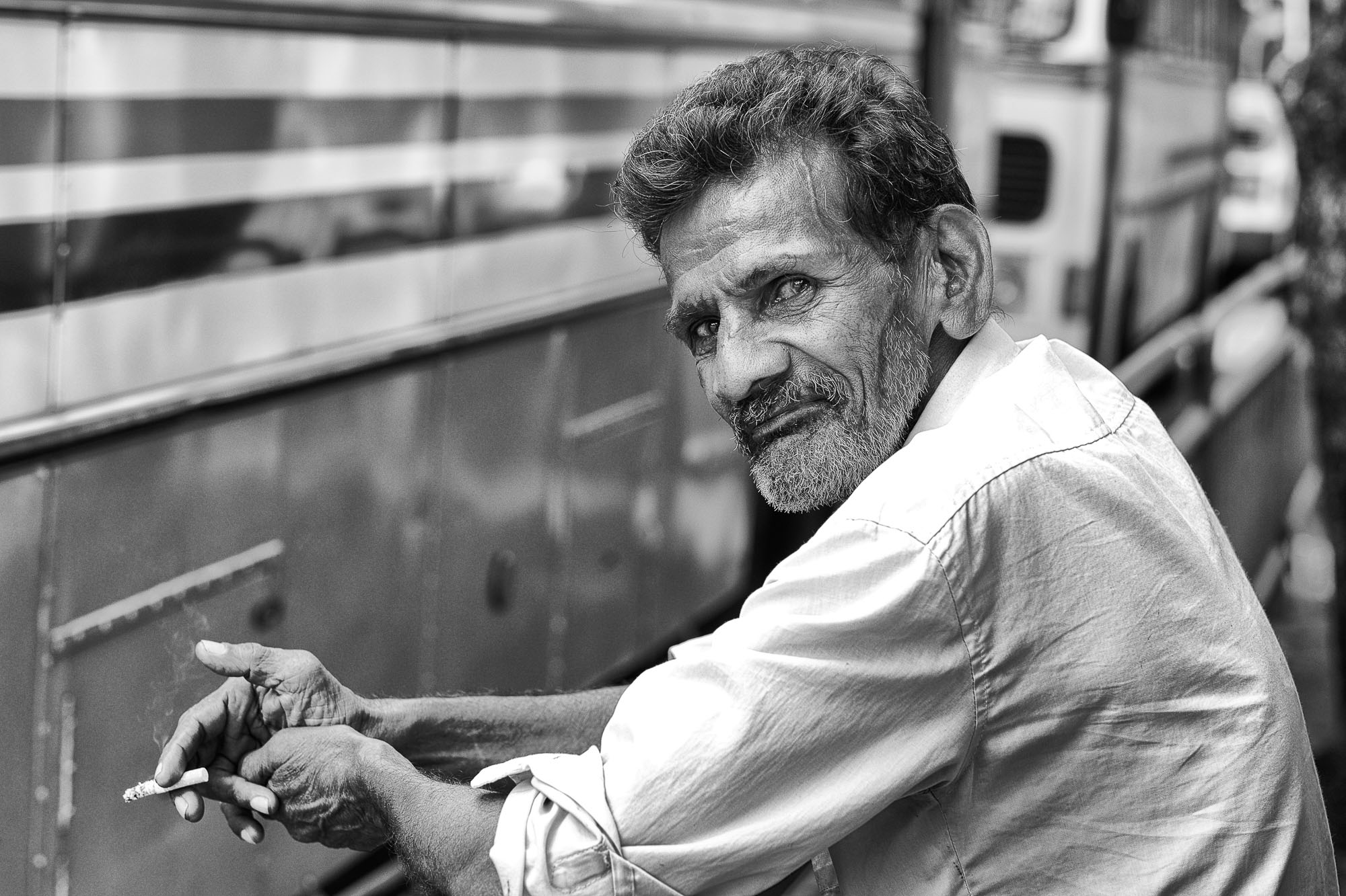 COLOMBO sri lanka street photography man smoking