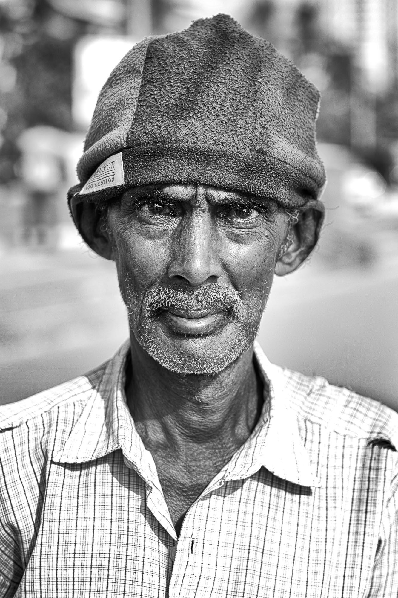 COLOMBO sri lanka street photography man gold face
