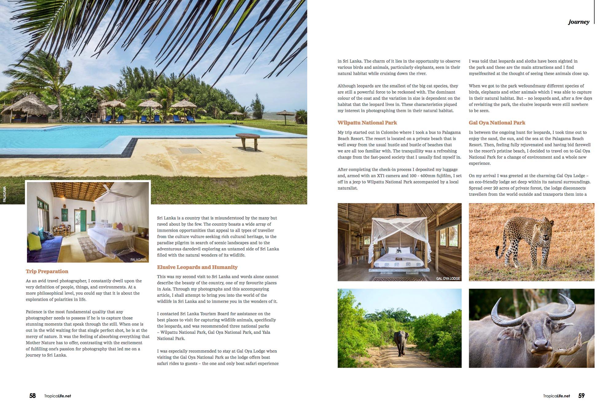 Tropical Life Magazine Sri Lanka Jose Jeuland travel photographer Singapore