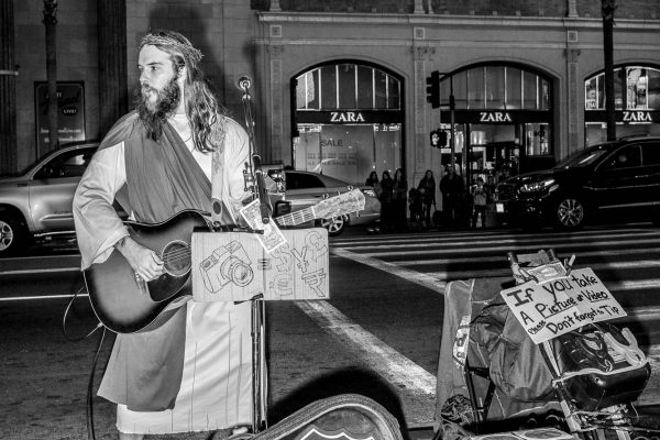Hollywood guitars man jesus show LOS ANGELES california united stated usa street photography