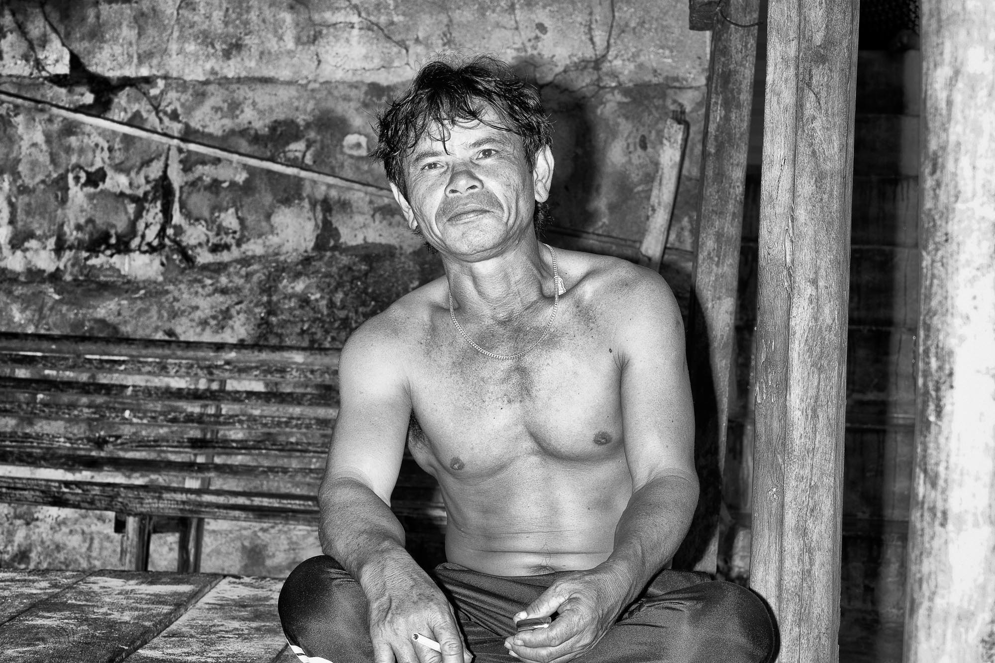 NHA TRANG vietnam asia street photography man smoking