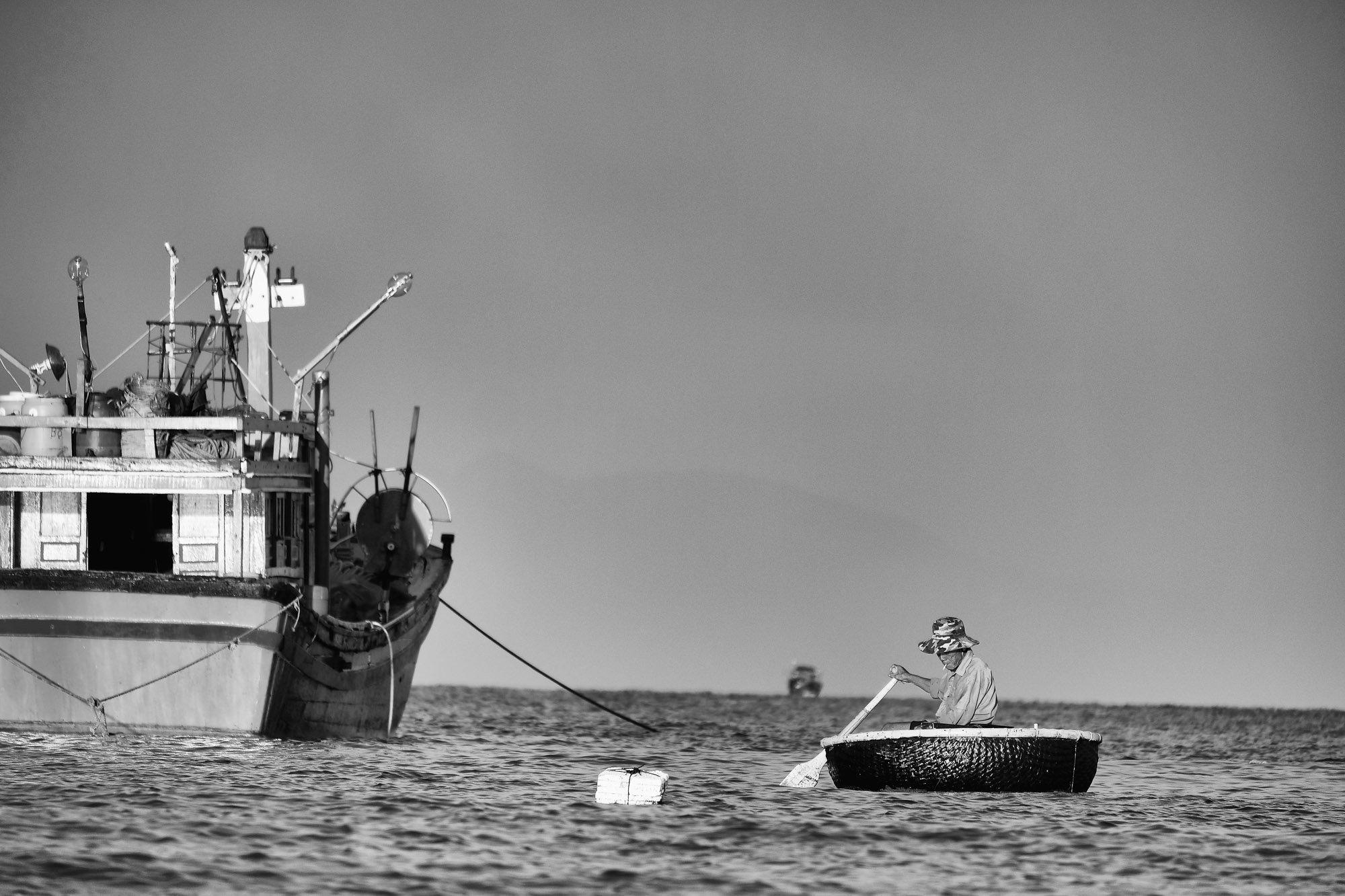 NHA TRANG vietnam asia street photography sea boat