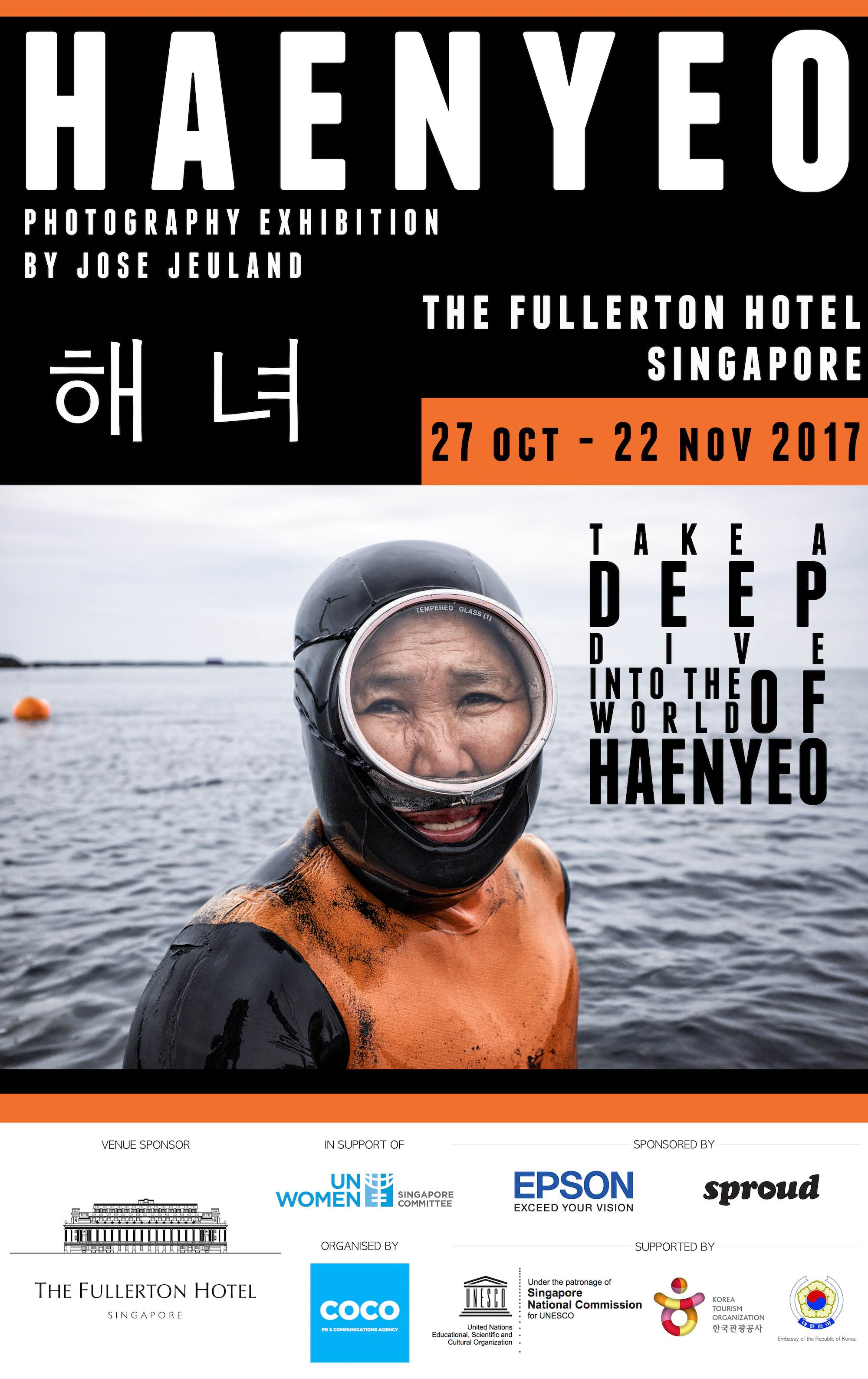 Poster Haenyeo Photo Exhibition jose jeuland sinagpore