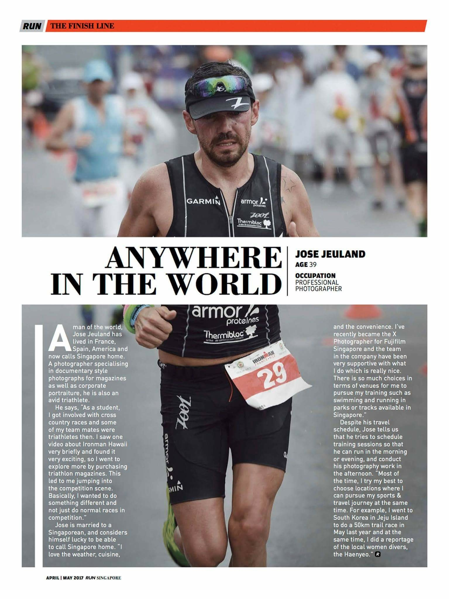 RUN ASIA MAGAZINE Jose Jeuland Athlete photographer Triathlete sport