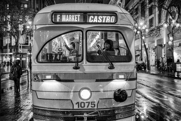 tram sf city SAN FRANCISCO california ca untited states usa street photography