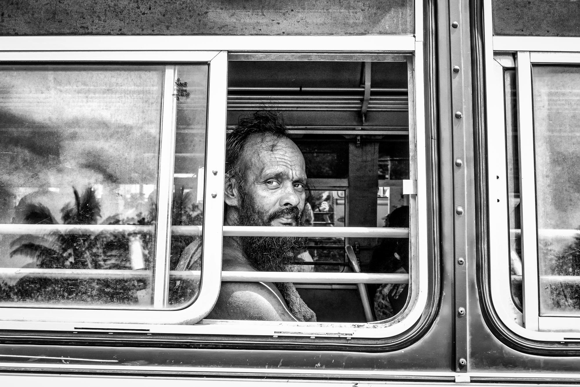 Vadda sri lanka indingenous group people photography - veddas in the bus