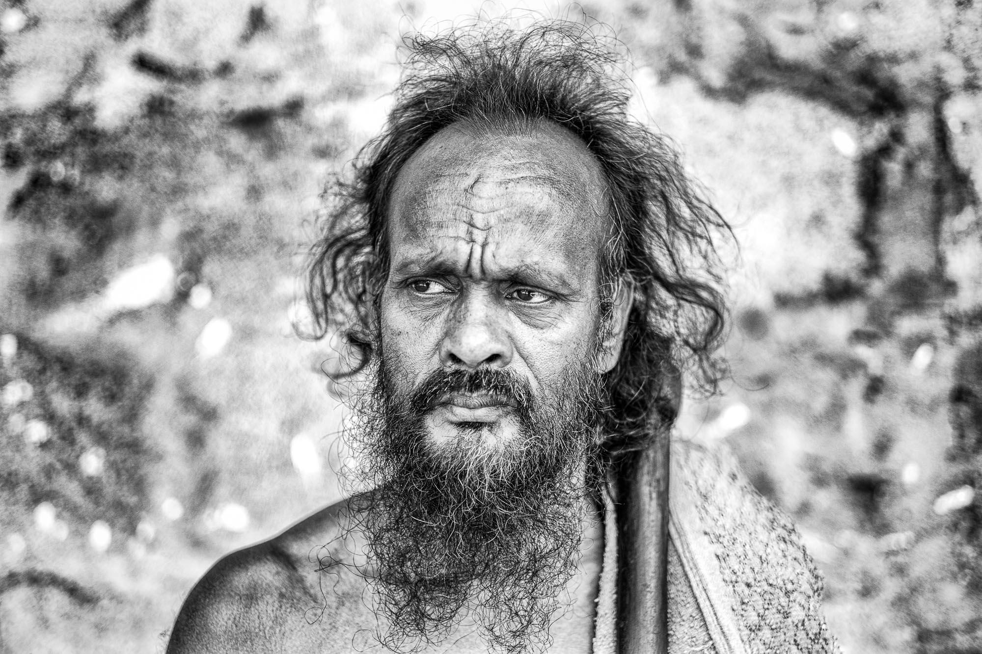 Vadda sri lanka indingenous group people photography - veddas photograph portrait axe shoulder