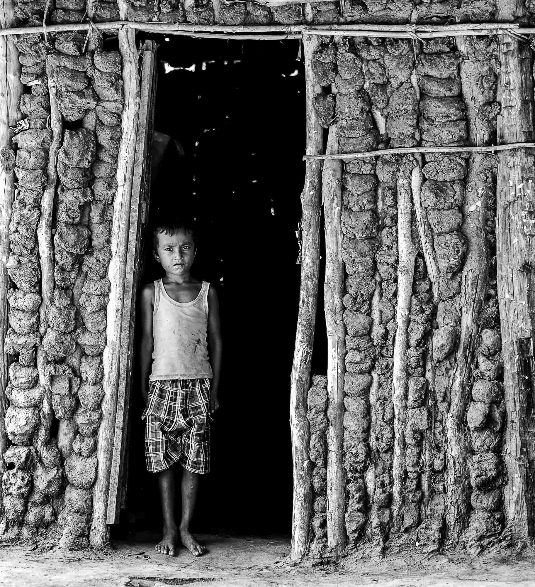 Vadda sri lanka indingenous group people photography - veddas little boy house photograph