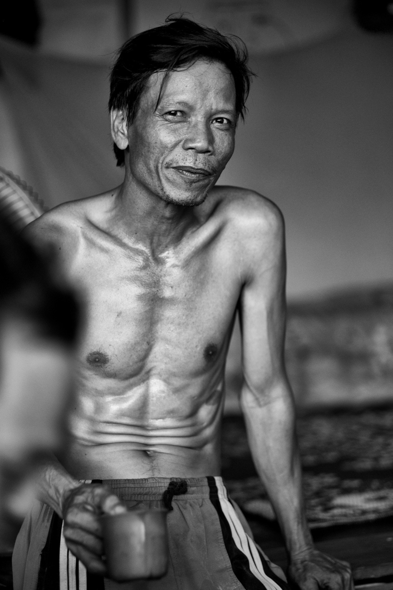 body of worker building VIENTIANE Laos asia street photography photographer