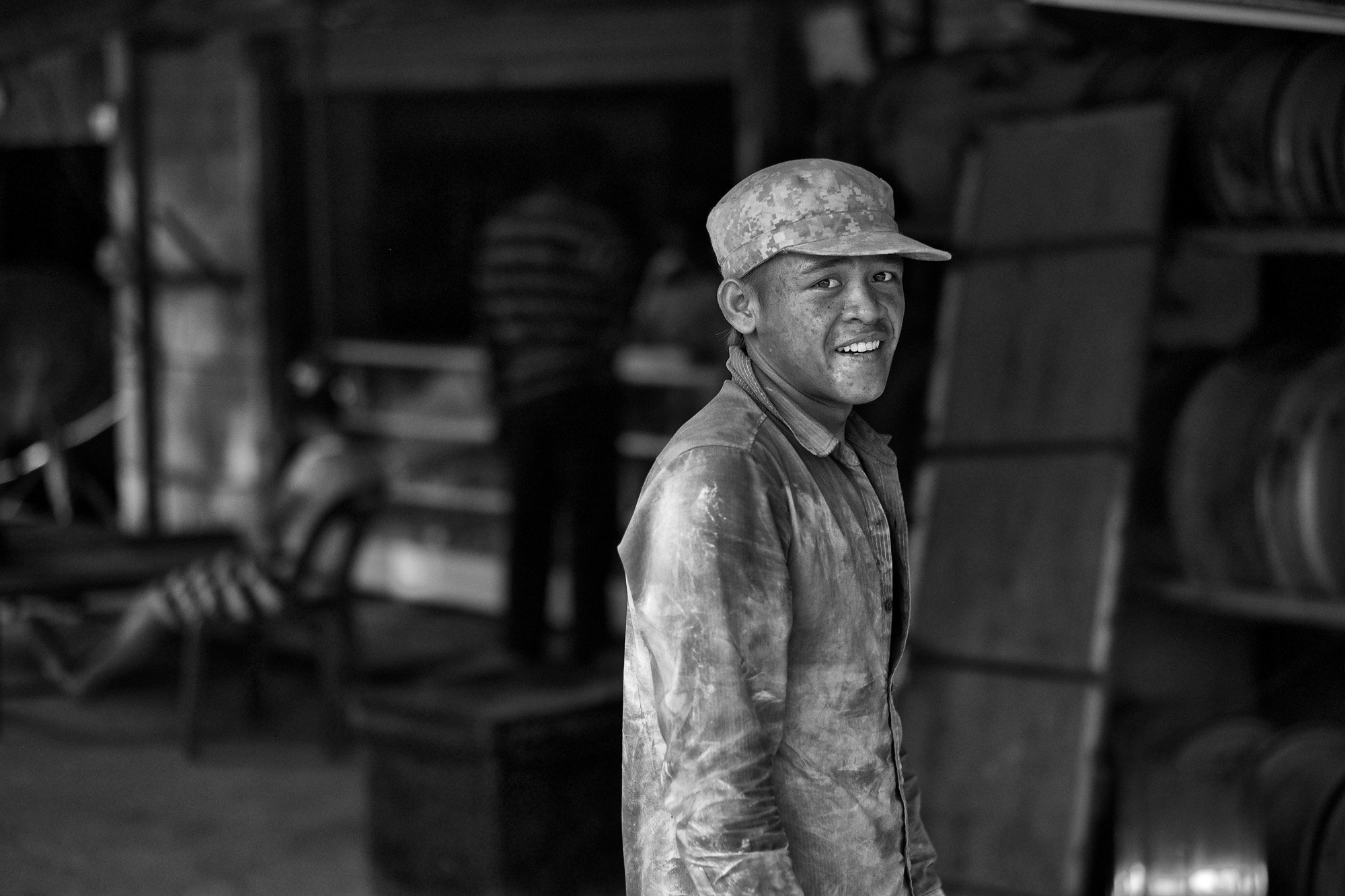 worker VIENTIANE Laos asia street photography photographer