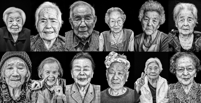 Old people okinawa Japan jose jeuland Fujifilm Manfrotto photographer project documentary longevity centenarian