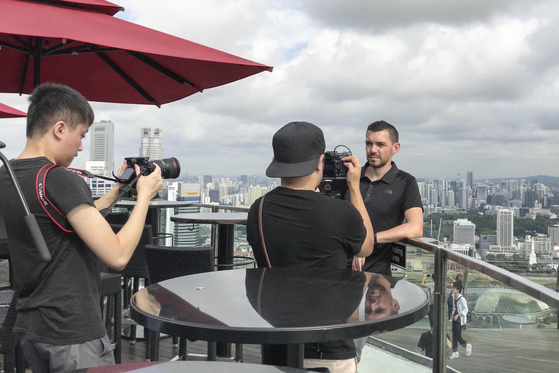The North Face Black Polo T review - Singapore - Ce la vi- marina bay sand