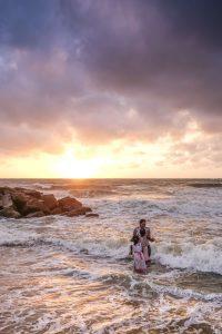 Beach Negombo Sri Lanka Travel photography Fujifilm XE3 sunset play