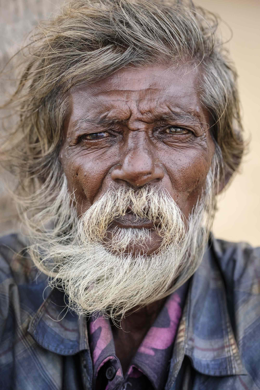 Beach Negombo Sri Lanka Travel photography Fujifilm XE3 portrait old man