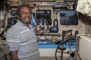 Captain boat Fish Market Negombo Sri Lanka Travel Photography Fujifilm XE3