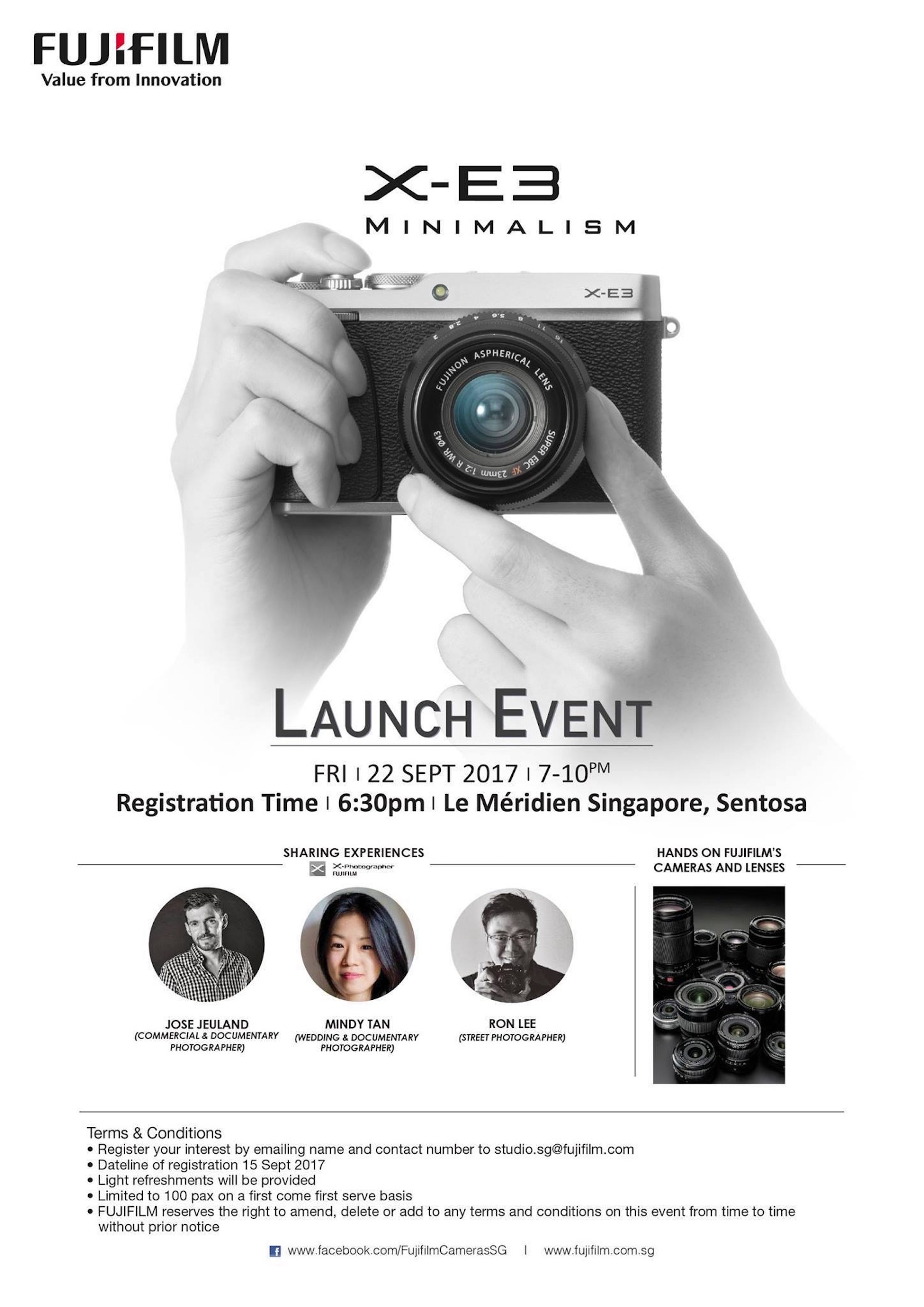 Launch Event FUJIFILM X-E3 - Jose Jeuland Singapore