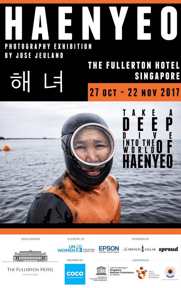 Poster Haenyeo Photo Exhibition jose jeuland sinagpore fullerton hotel jeju island