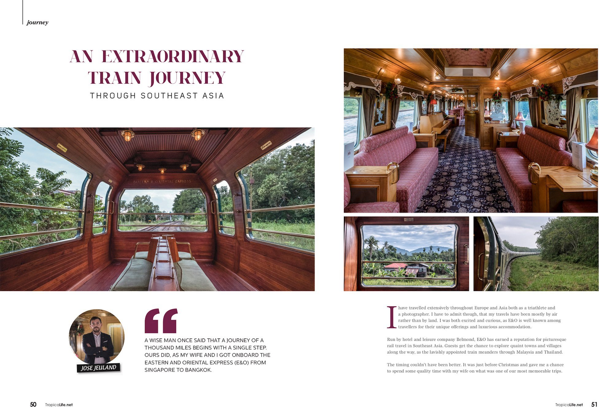 Eastern & Oriental Express belmond journey train travel southeast asia luxury e&o