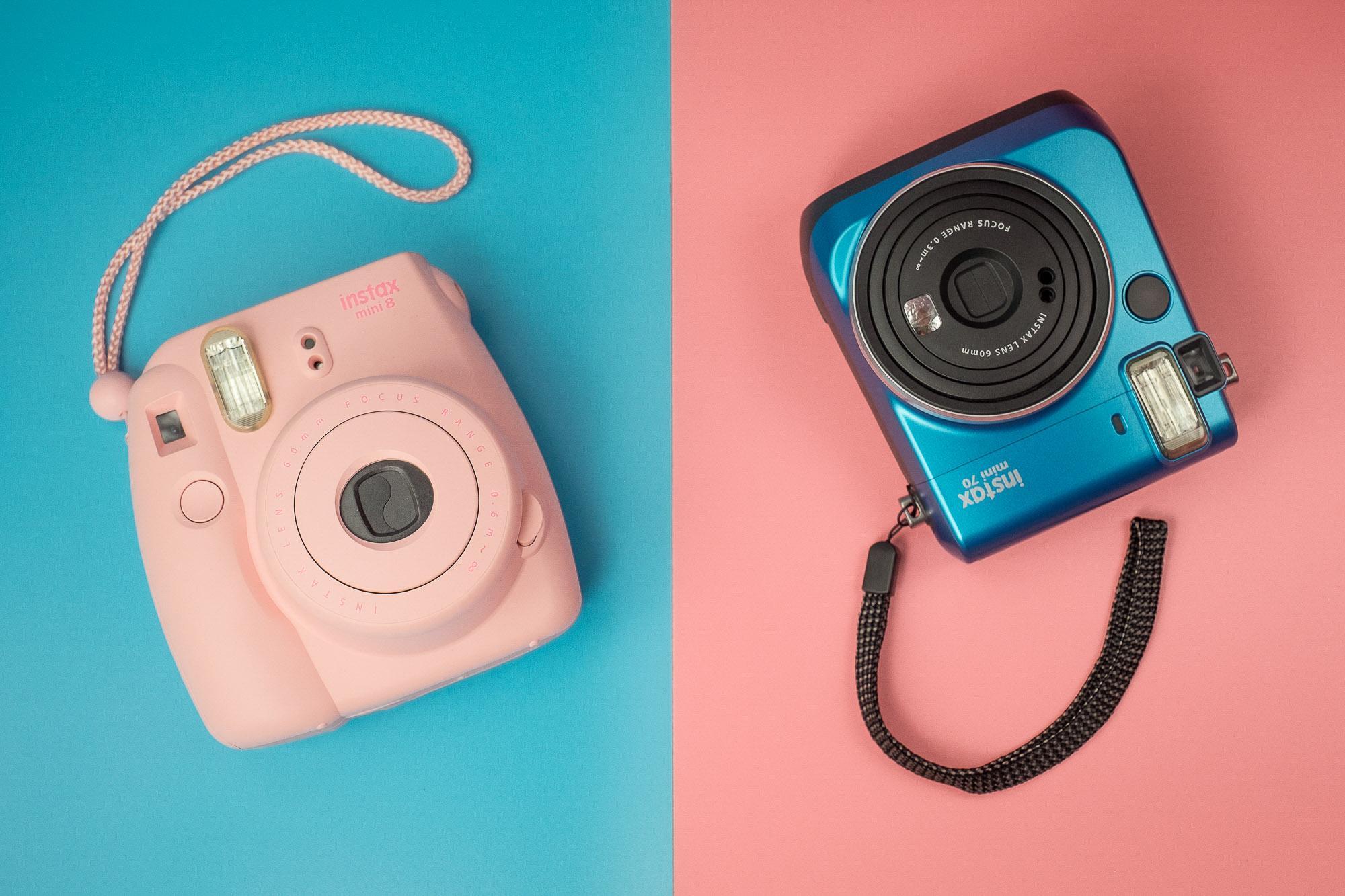Intax mini 8 70 pink bleu singapore fujifilm product photography commercial photographer sg photoshoot
