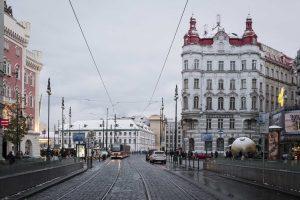Snow prague city cz travel journey voyage
