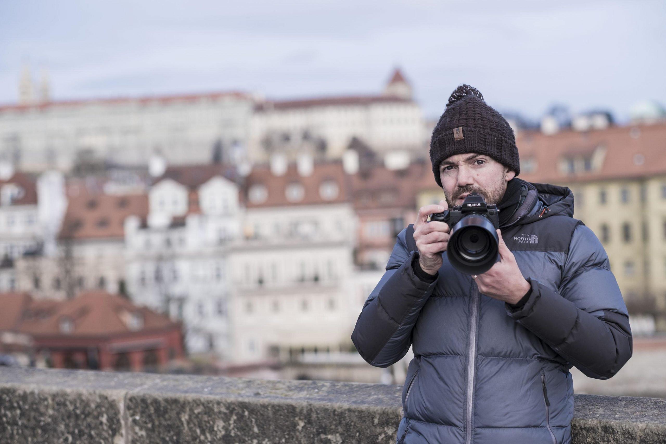 travel photography workshop The North Face Winter Clothing Jose Jeuland Singapore jacket hat fujifilm GFX prague