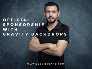 Gravity backdrops hand paint canvas photography studio shoot jose jeuland bleu