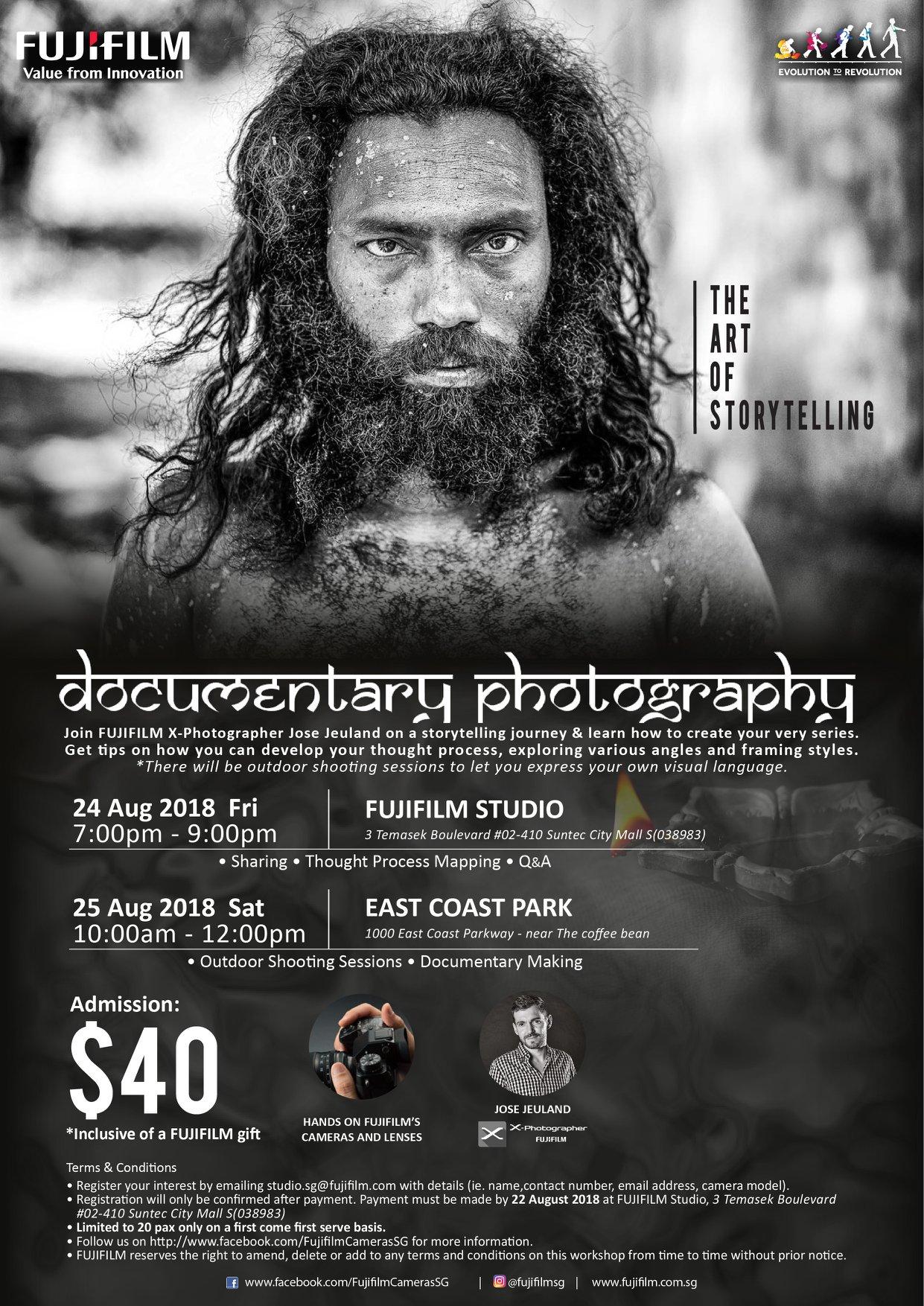 FUJIFILM Photography Workshop Singapore Jose Jeuland