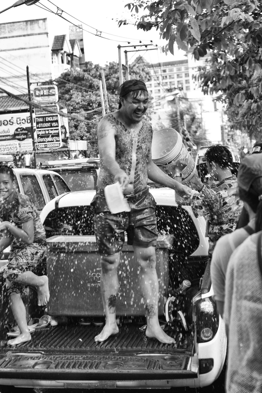 Songkran Thailand CHIANG MAI water festival dance car photography tattoo