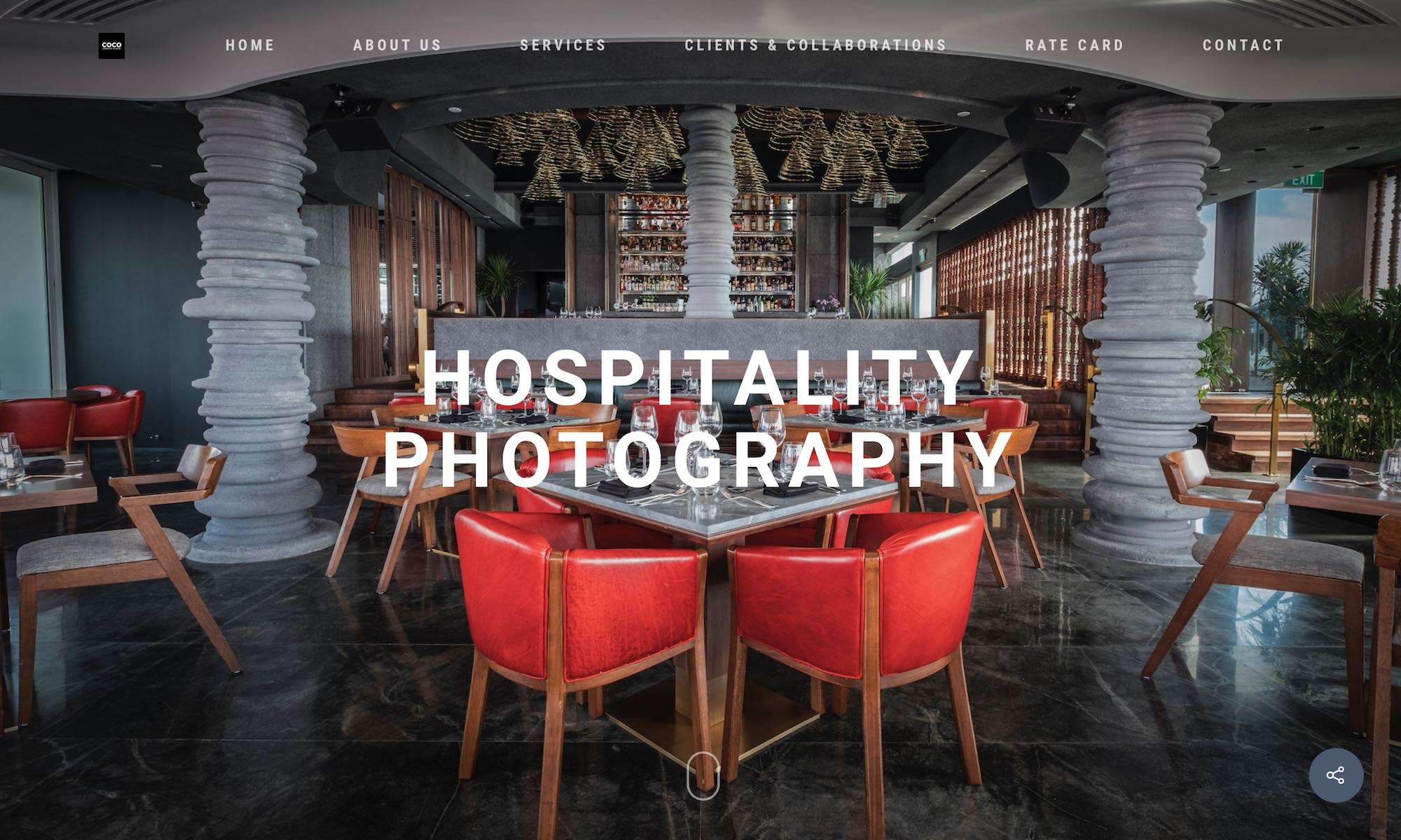 COCO Creative studio photography & videography Singapore - Hospitality restaurant