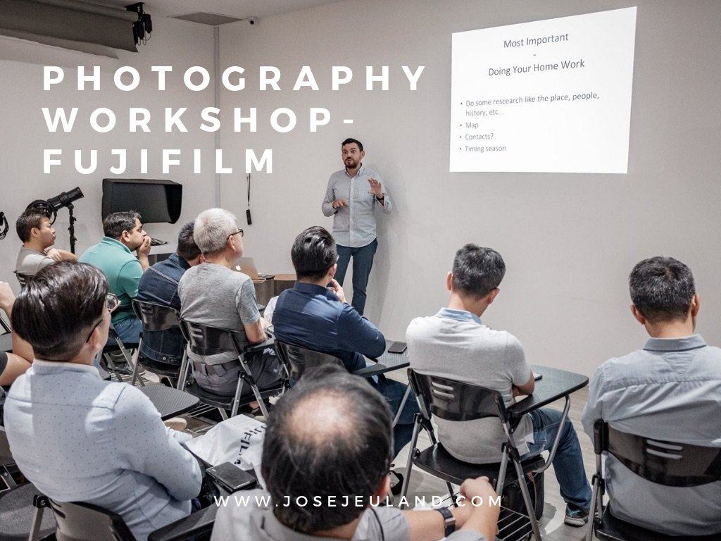 Photography Workshop FUJIFILM singapore studio jose jeuland documentary