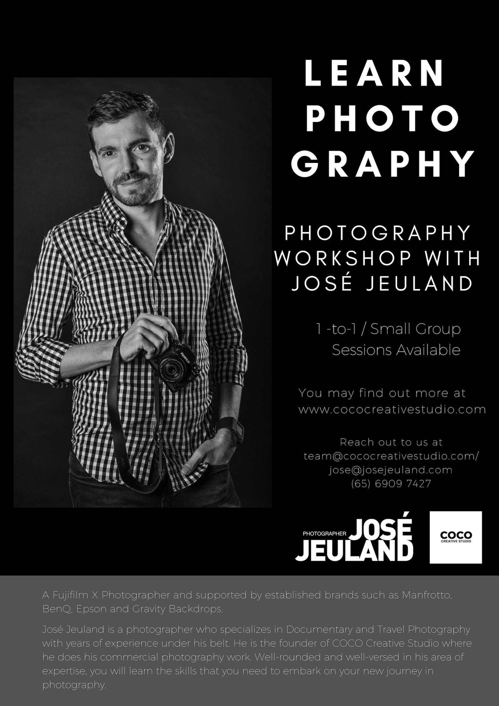 Jose Jeuland Photography Workshop singapore photographer photowalk asia fujifilm manfrotto