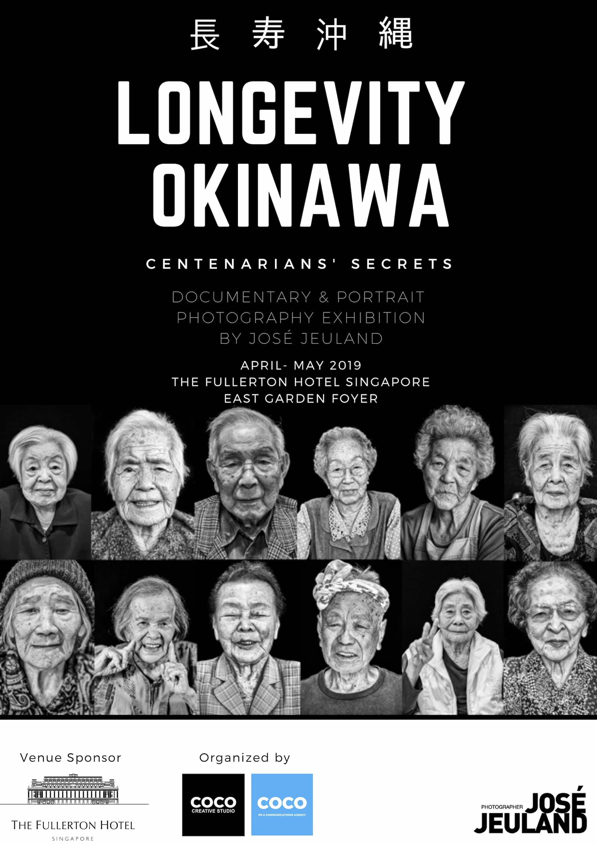 Okinawa Longevity photography exhibition jose jeuland singapore poster