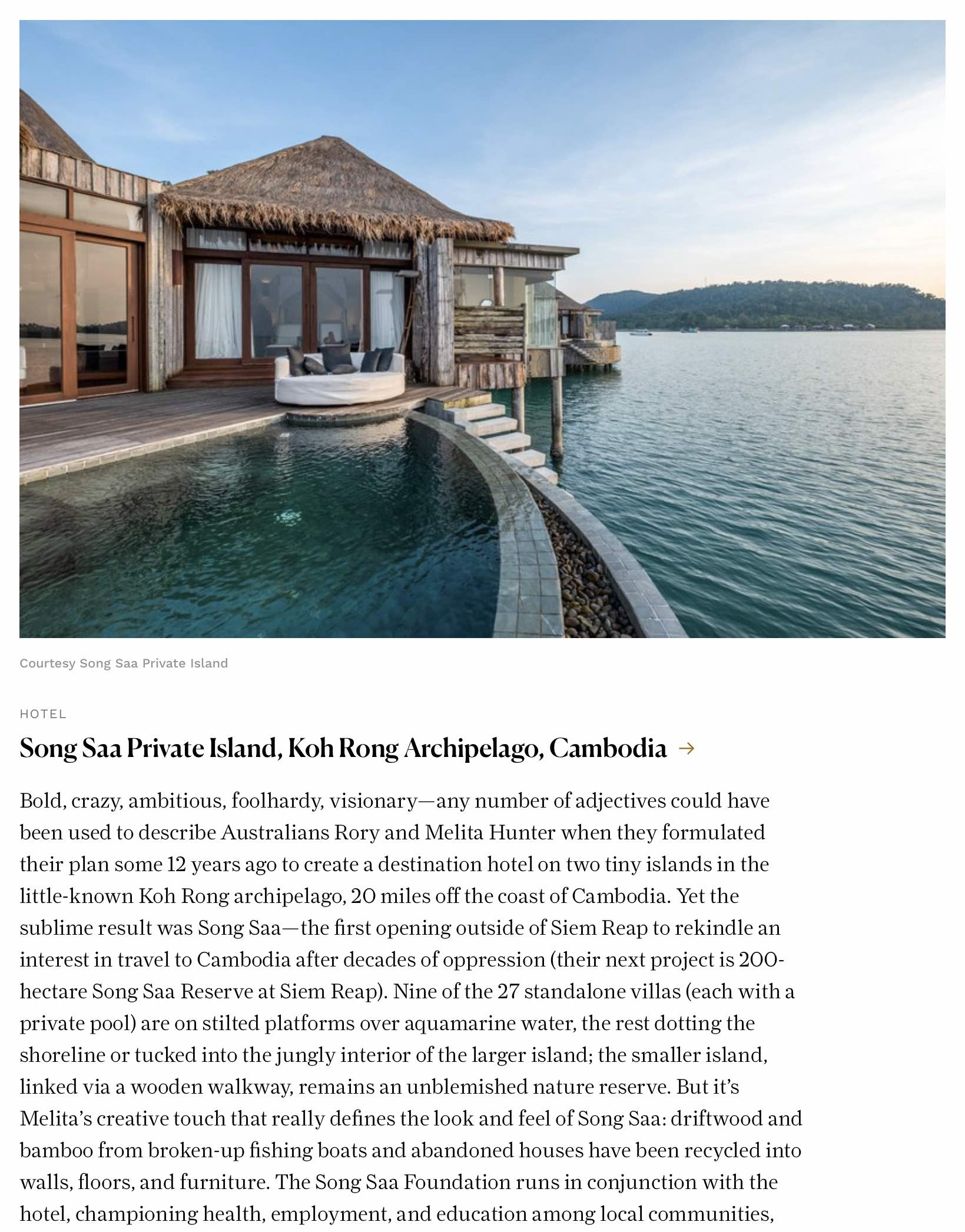 Conde Nast Traveler jose jeuland travel photographer cambodia song saa island asia