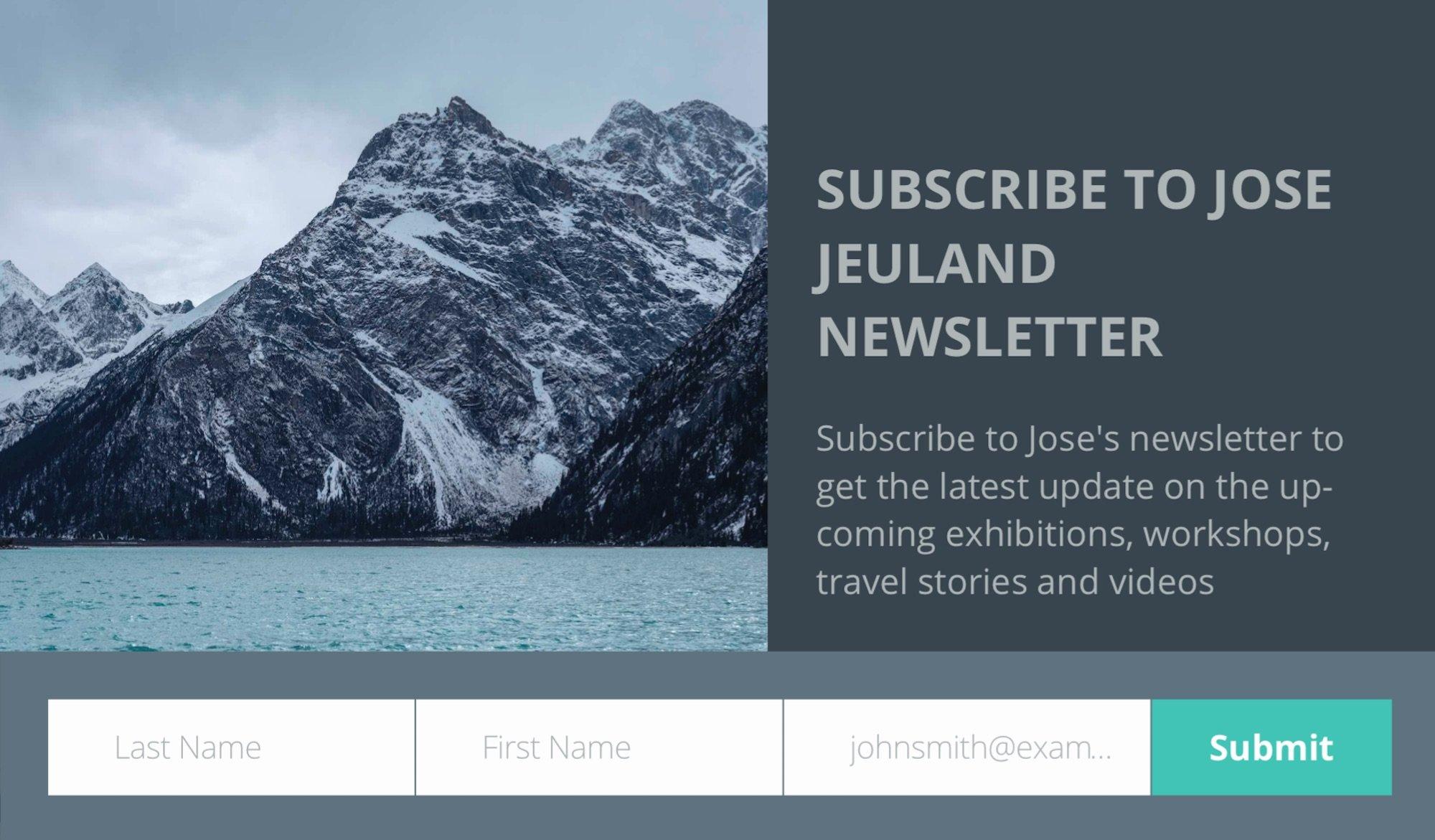 Newsletter, jose, jeuland, photography, photographer, singapore