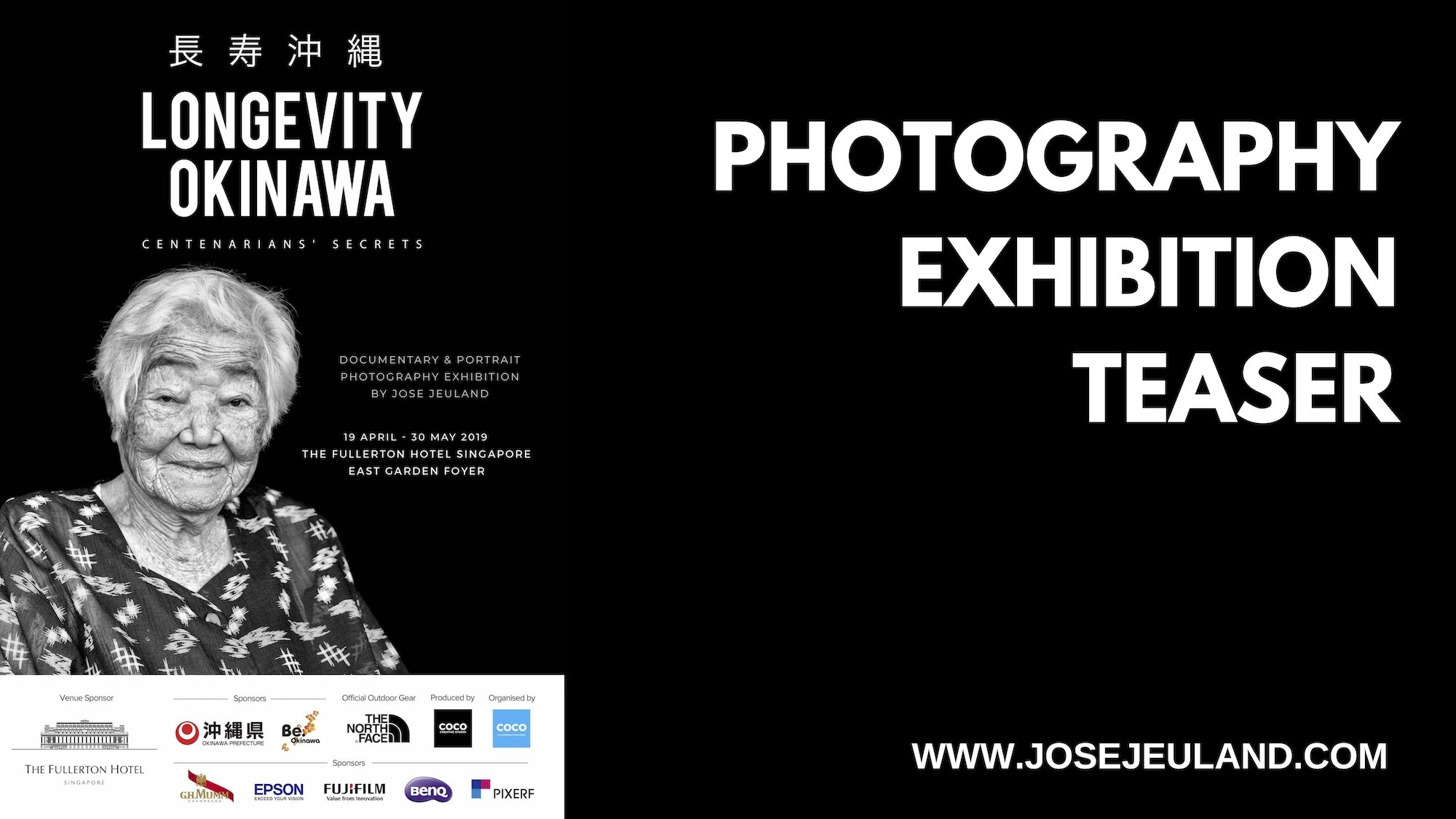 "Teaser up-coming photography exhibition "" Longevity Okinawa """