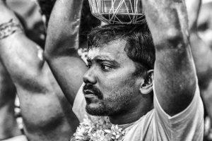 man ready wilk pot on the head Little India Thaipusam Festival hindu Singapore photography jose jeuland documentary event
