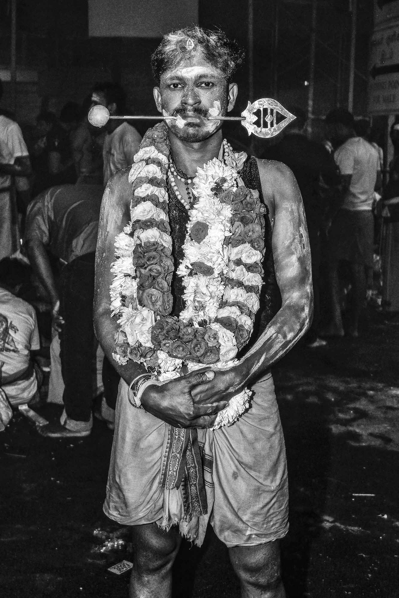 piercing indian man temple Little India Thaipusam Festival hindu Singapore photography jose jeuland documentary event