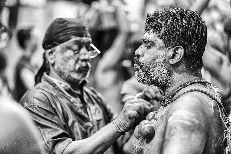 ritual man indian elmon piercing Little India Thaipusam Festival hindu Singapore photography jose jeuland documentary event