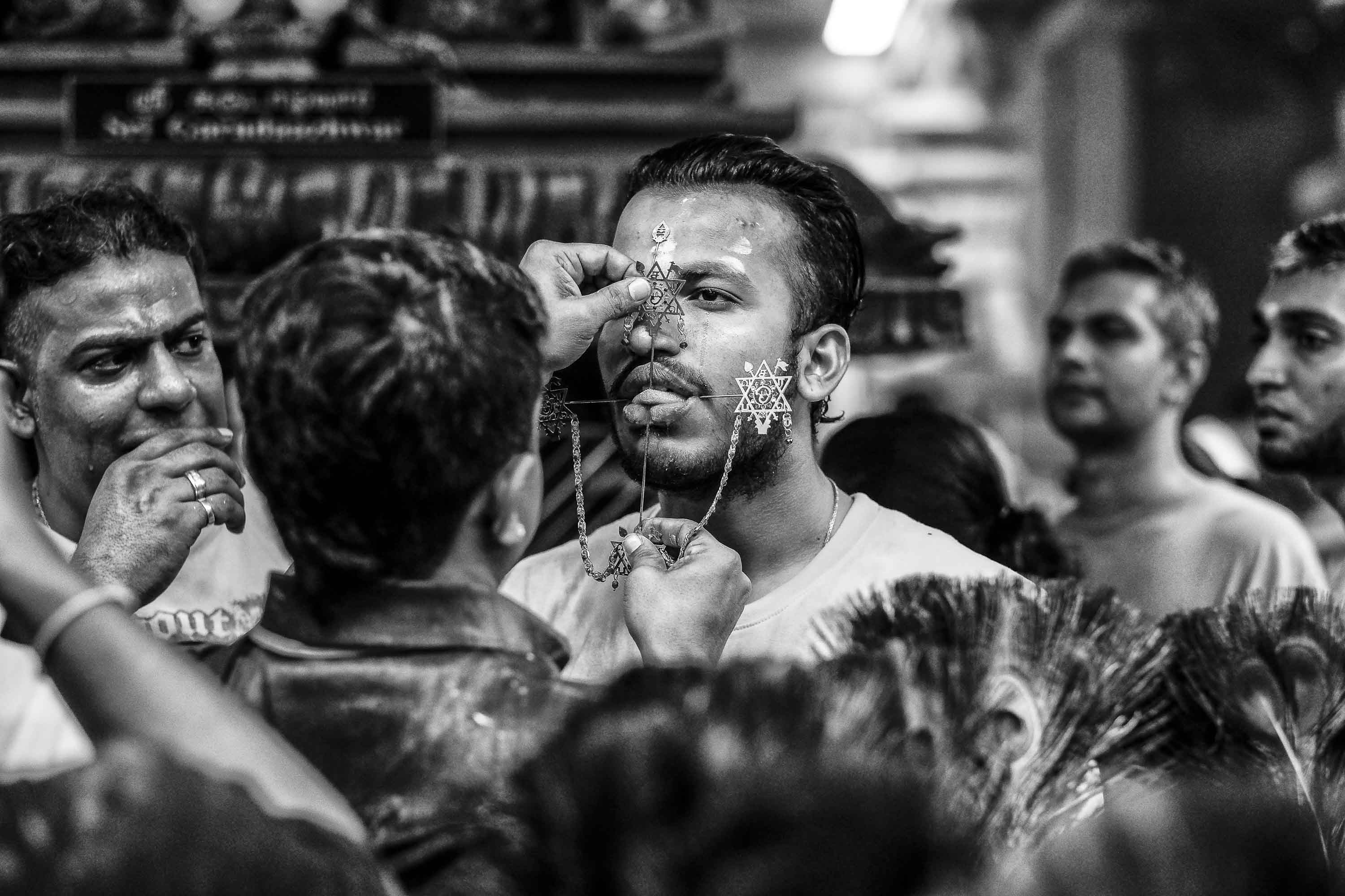 piercing tong man temple Little India Thaipusam Festival hindu Singapore photography jose jeuland documentary event