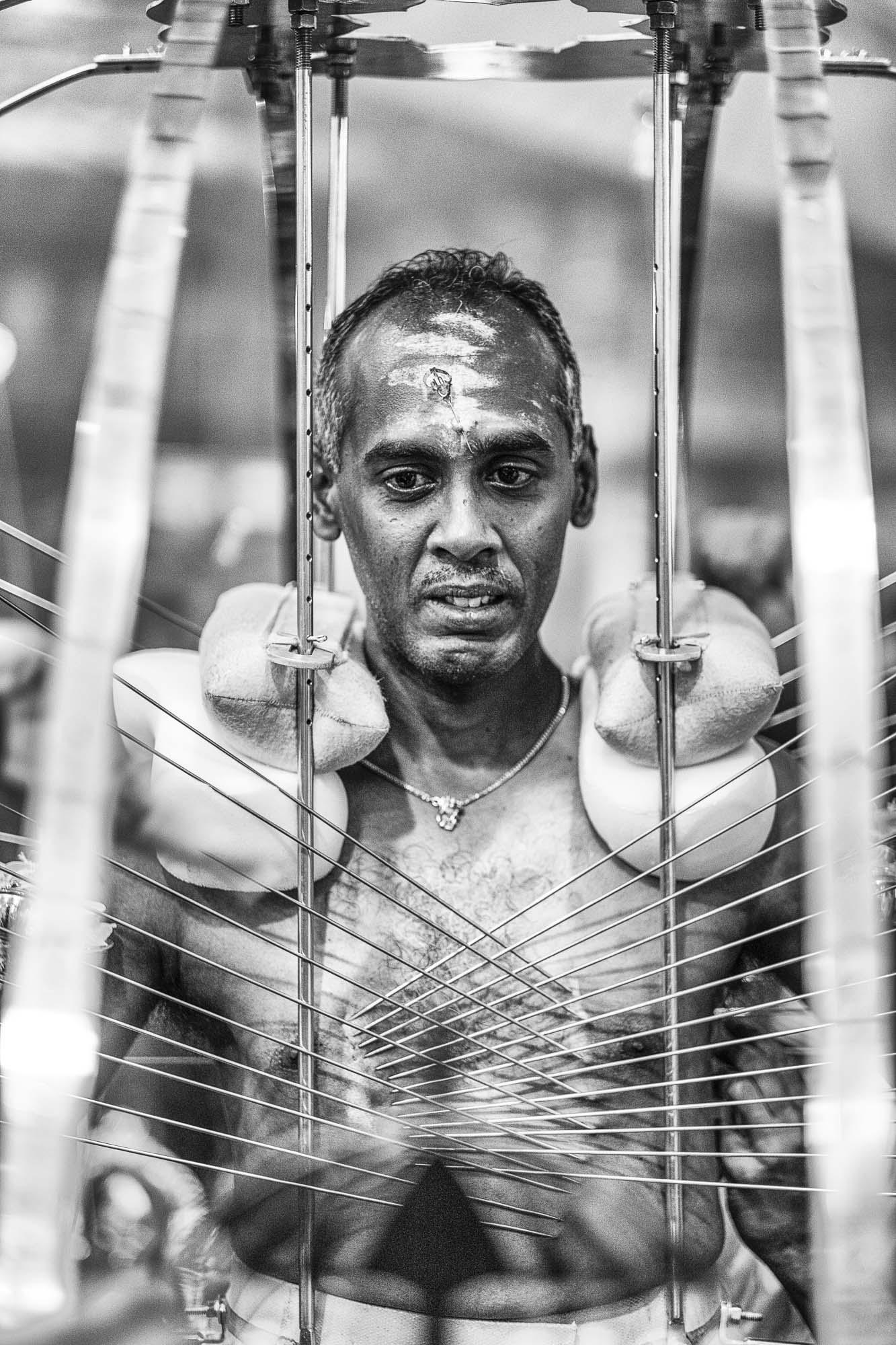 piercing body iron temple Little India Thaipusam Festival hindu Singapore photography jose jeuland documentary event
