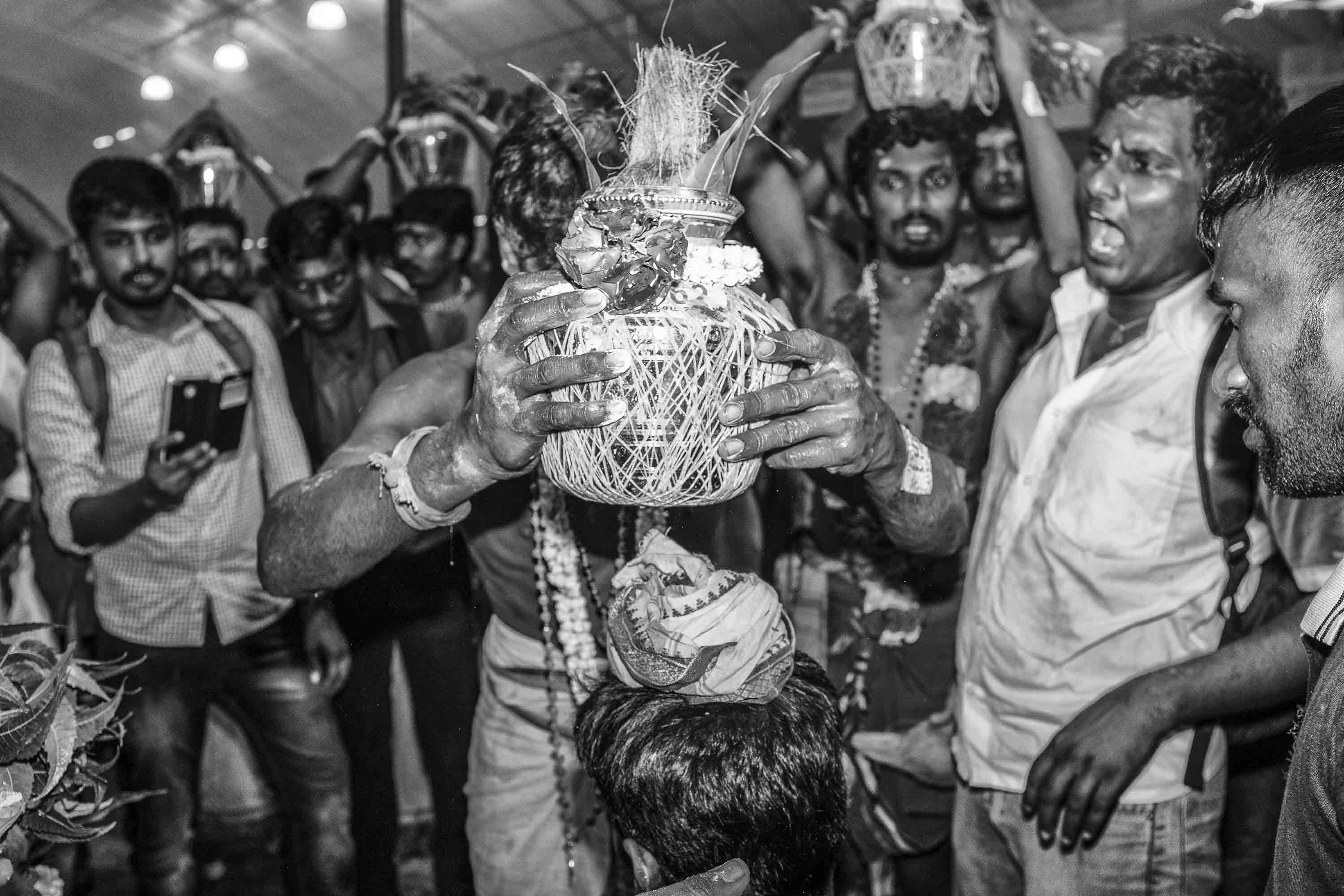 coco nuts ceremony Little India Thaipusam Festival hindu Singapore photography jose jeuland documentary event