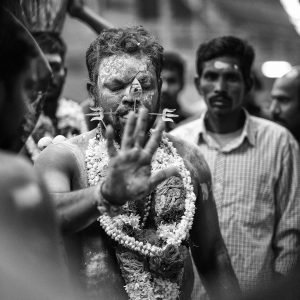 Little India Thaipusam Festival hindu Singapore photography jose jeuland documentary event hand piercing flower