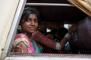jaffna Sri Lanka lady in the bus with friends Commercial Editorial Portraiture Documentary Photographer fujifilm Director Singapore Jose Jeuland photography fashion