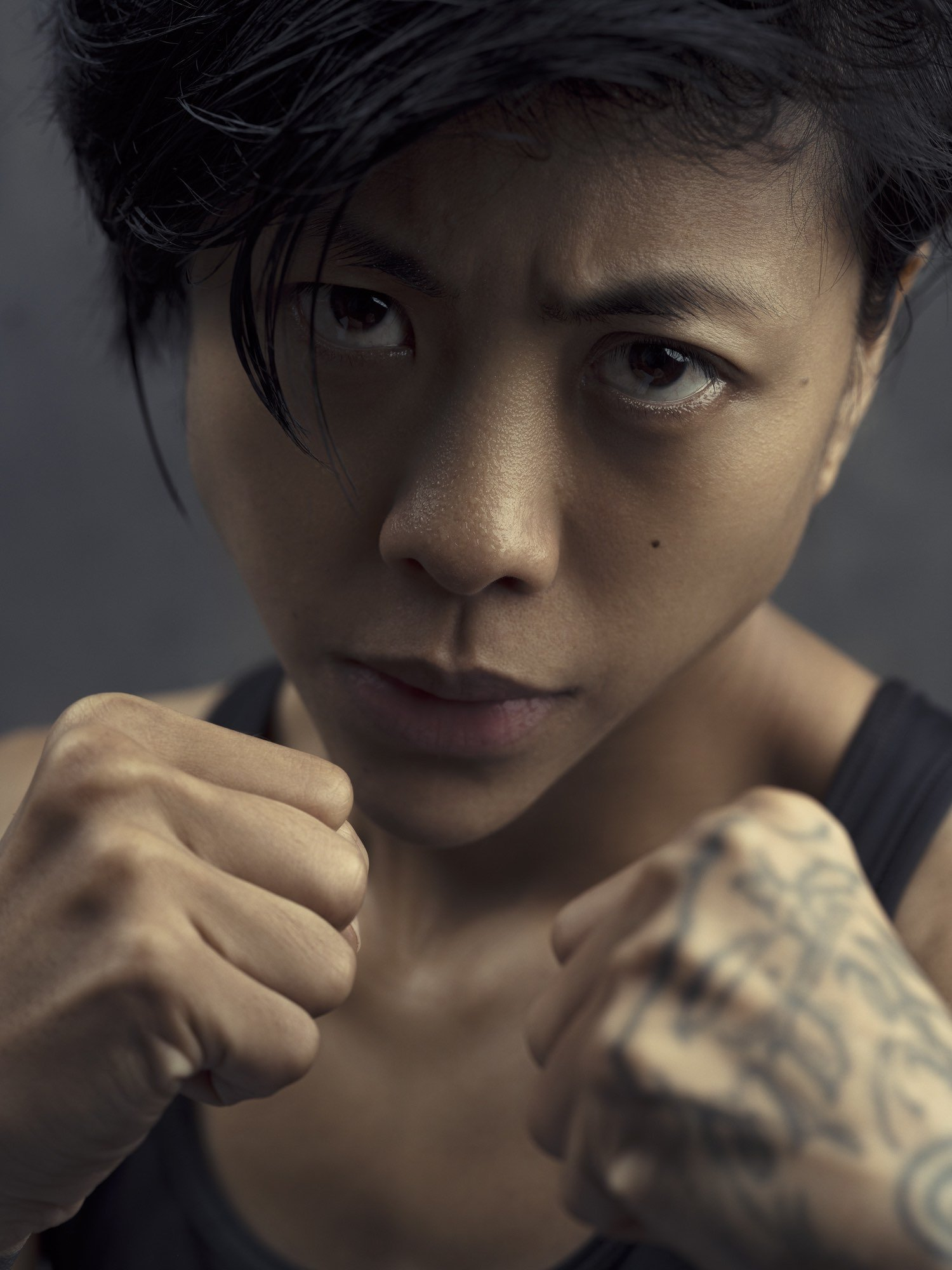 Beauty boxer boxing woman Commercial Editorial Portraiture Documentary Photographer fujifilm Director Singapore Jose Jeuland photography fashion street