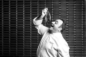 chef restaurant black white fish jw Marriott Commercial Editorial Portraiture Documentary Photographer fujifilm Director Singapore Jose Jeuland photography fashion
