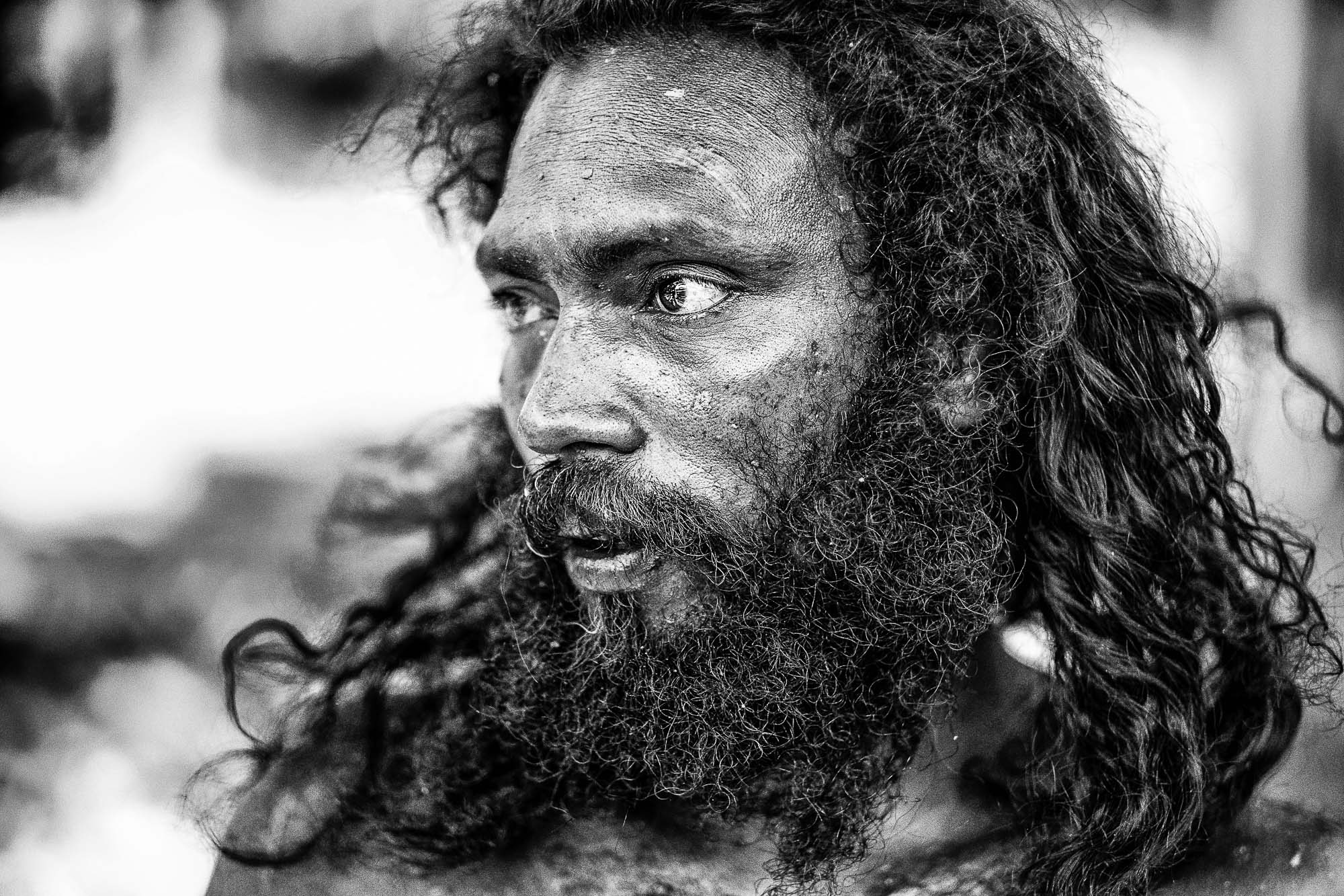 Veddas Sri Lanka man indigenous beard black white Commercial Editorial Portraiture Documentary Photographer fujifilm Director Singapore Jose Jeuland photography fashion