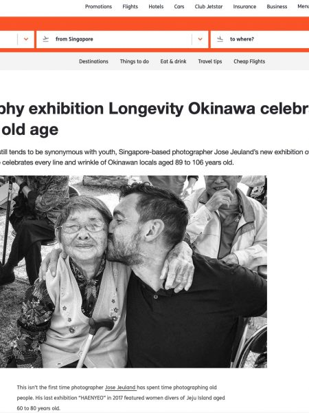 Jetstar Asia Airways Jose Jeuland photographer singapore photography Exhibition Okinawa Longevity